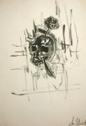 tableau nature morte aquarelle vanite illustration crane : Skull