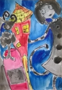 dessin personnages aquarelle enfant jeunesse illustration : Wonderland Coloful