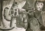 dessin personnages aquarelle enfant jeunesse encre : My dark wonderland