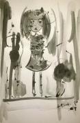 dessin personnages aquarelle enfant jeunesse encre : Love