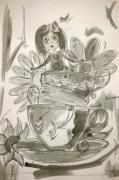 dessin personnages aquarelle enfant jeunesse encre : My girl and her world
