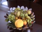 photo nature morte corbeille fruit raisin poire : CORBEILLE DE FRUIT