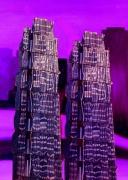 art numerique tour architecture reflet composition : LES DEUX TOURS