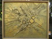 tableau abstrait : empreinte