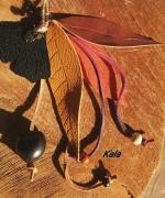 bijoux bijoux de sac feuilles cuir graine bois corne : Bijoux de sac, feuilles cuir chouette
