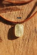 bijoux collier hommr cuir phrenite : Coliier cuir marron Phrénite