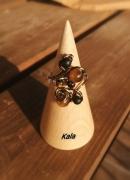 bijoux autres bague ouverte cuivre bronze Œil de tigreonyx no : Bagues cuivre bronze Oeil de tigre /Onyx noire mate