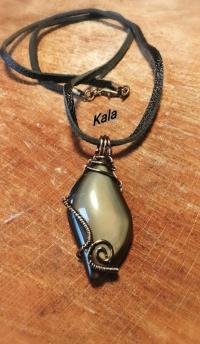 Larme Obsidienne Oeil Céleste cuivre bronze