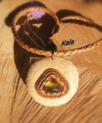 bijoux mystique ambre chiapas cuir bambou : Mystique Ambre du Mexique ,Cuir/Bambou