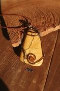 bijoux jaspe jaune cuivre bronze pendentif : Jaspe jaune cuivre bronze