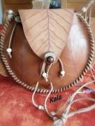 bijoux sac pochette rond esprit foret bois fossile : Sac/pochette rond Esprit Forêt, Bois Fossile