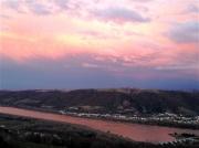 photo paysages couchant : Couchant rosé
