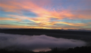 photo paysages rhone fleuve drome : Aube d'octobre (1)