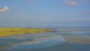 photo marine baie du mont saint ,m maree basse : Baie du Mont Saint-Michel à marée basse (1)