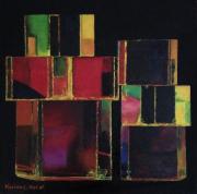 tableau abstrait mise en boites transparence : Mise en boîtes
