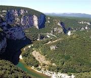 photo paysages gorges meandres ardeche : Gorges de l'Ardèche