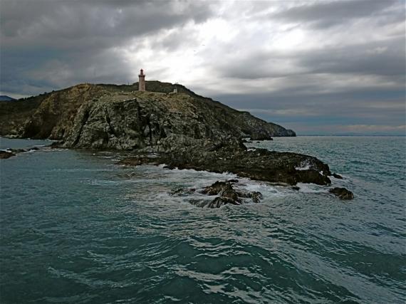 PHOTO Cap Béar Sémaphore Côte Vermeille Pyrénées Orientales Marine  - Cap Béar