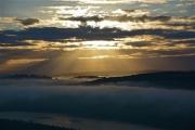 photo paysages drome rhone fleuve aube ciel : Aube