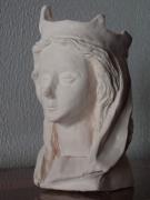 sculpture personnages visage gothique gothic figurine : Figurine gothique