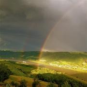photo paysages arcs en ciel rhone fleuve ardeche drome : Jeux de lumières après un orage (1)