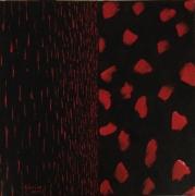 tableau abstrait rouge noir : Oppositions formelles