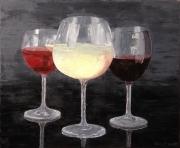 tableau verres vins : Verres de blanc, de rouge et de rosé