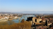 photo paysages drome ardeche vercors : Le Rhône entre Tournon et Tain