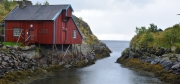 photo marine iles lofoten norvege reine : Cabane de pécheur