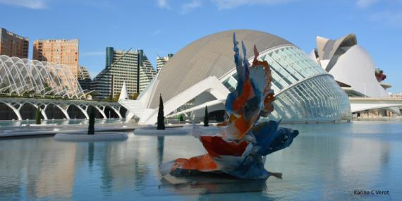 PHOTO Cité des arts et des sciences Ciudad de las Artes y las Ciencias Valencia Espagne Villes  - Ciudad de las Artes y las Ciencias de Valencia