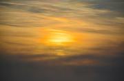 photo paysages aube ciel : Soleil dissimulé par les nuages