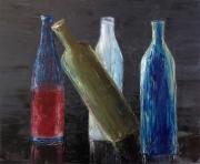 tableau nature morte bouteilles alcools : Ivresse