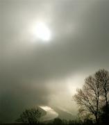 photo paysages ciel nuages drome : Trouée de lumière sur le Rhône