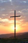 photo paysages aubrac aube croix : Que la lumière soit !