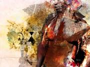 art numerique personnages homme black marron : Black Man