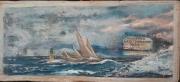 tableau marine meteo mer agitee messagerie maritime : vent d'est