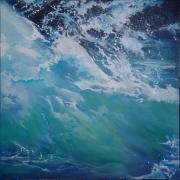 tableau marine ecume geste bleu mouvement : Au creux de la vague