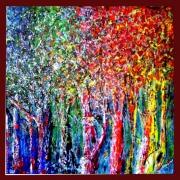 tableau paysages : Palette D'arbres