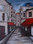tableau scene de genre paris street rue : Street of Paris