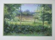 tableau paysages : 3 bouleaux