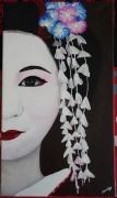 tableau personnages geisha japan kimono asie : Geisha#12...candeur
