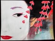 tableau personnages geisha japon kimono asie : Geisha#03...mystère