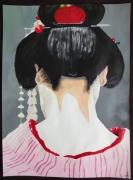 tableau personnages geisha kimono japon asie : Geisha#05...sérénité