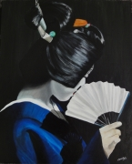 tableau personnages geisha asie japon kimono : Geisha#10...discrétion
