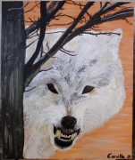 tableau animaux loup acrylique animal : Wolf story, stronger than you