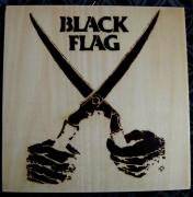 bois marqueterie autres pyrogravure punk musique : Black Flag