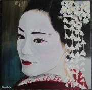 tableau personnages asie geisha kimono japon : Geisha#09...passion