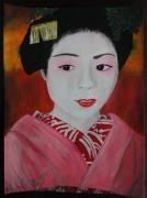 tableau personnages asie geisha japon kimono : Geisha#01...innocence