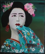 tableau personnages geisha japon kimono : Geisha#11...rêverie