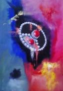 tableau nature morte abzim bijoux berbere : abzim 2