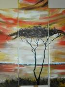 tableau paysages arbre afrique desert charente maritime : arbre d'afrique